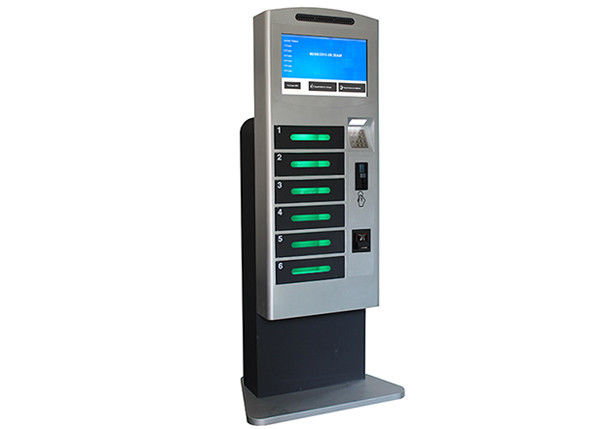 Coins / Bills Accepted Train Station Cell Phone Charging Tower Station with Deposit Locker