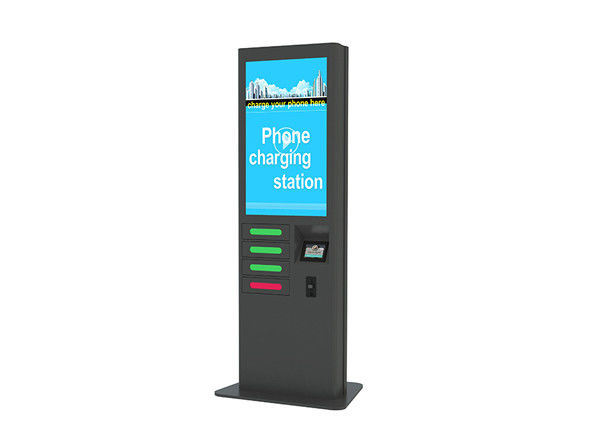 43 Inch LCD Screen Phone Charging Digital Signage Kiosk Various Charging Plugs Available