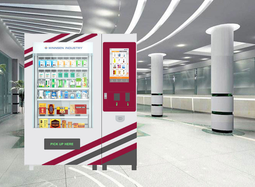 "22"" Touch Screen Pharmacy Vending Machine Kiosk For Indoor Use , CE / FCC"